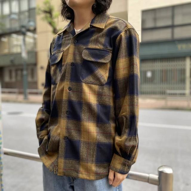 PENDLETON BOARD SHIRT BLACK/NAVY/OLIVE OMBRE
