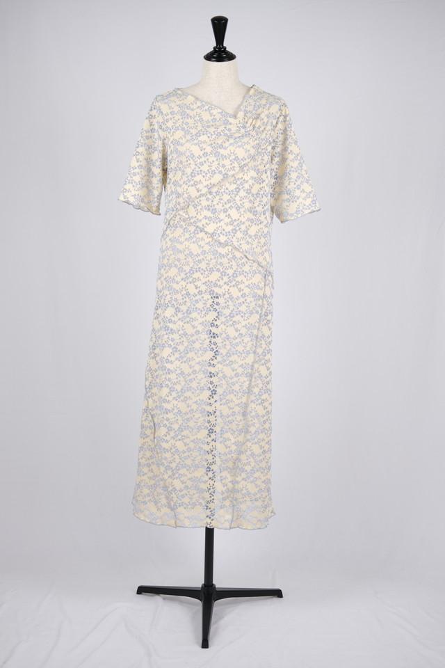 【MURRAL】stretch lace dress - beige