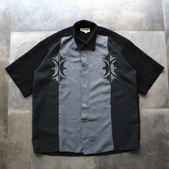 two-tone embroidery line shirt