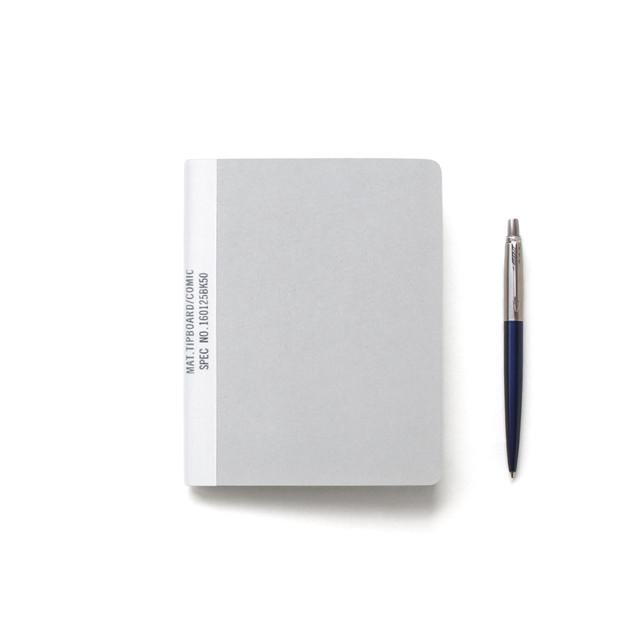 【ネコポス対応】MUCU Blank Note グレー Sサイズ