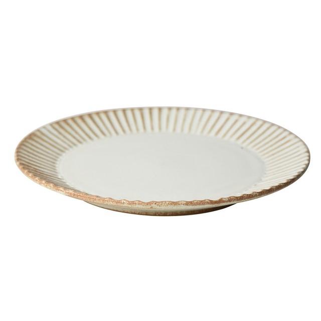 益子焼 つかもと窯 「 SHINOGI 」 プレート 皿 S ホワイト TS-05