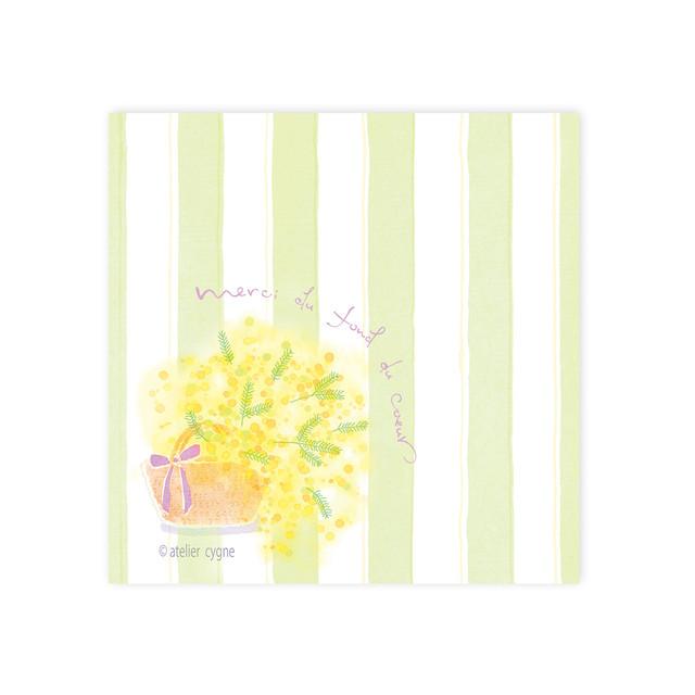 メッセージカード『ミモザのメッセージカード』~atelier cygne~