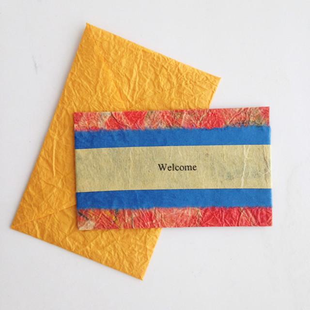 和紙のウェルカムカード(Welcome005)