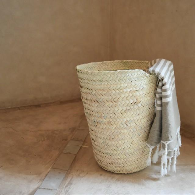 "SØMME / PALM LEAF BASKET Vertical ""Size L"""