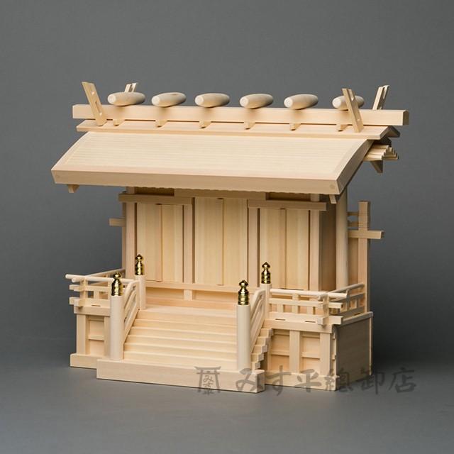 横通三社宮 丸屋根束立 2尺