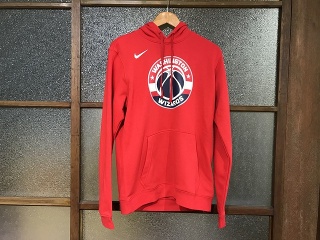 NIKE WASHINGTON WIZARDS LOGO HOODIE (RED)