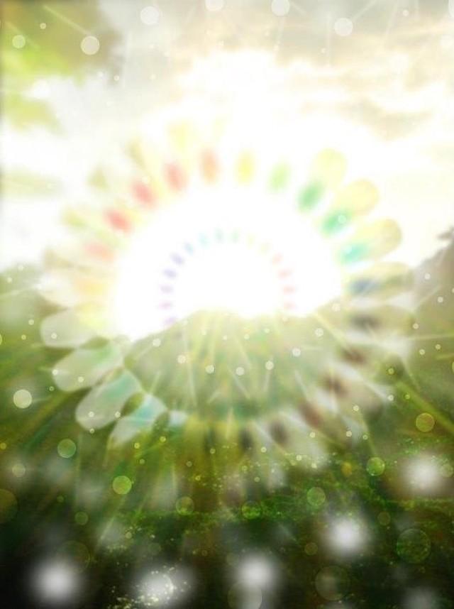 ◯ 屋久島の太陽神 { グラフィック曼荼羅 ART }