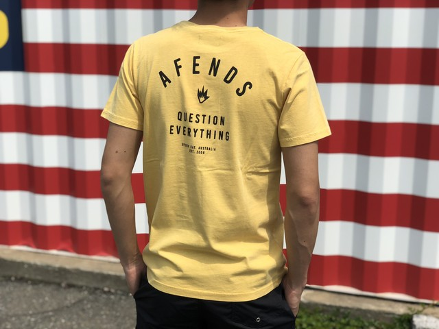 Afends. Standard Issue TEE (mustard)