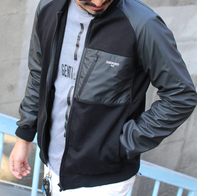 Nylon mix blouson