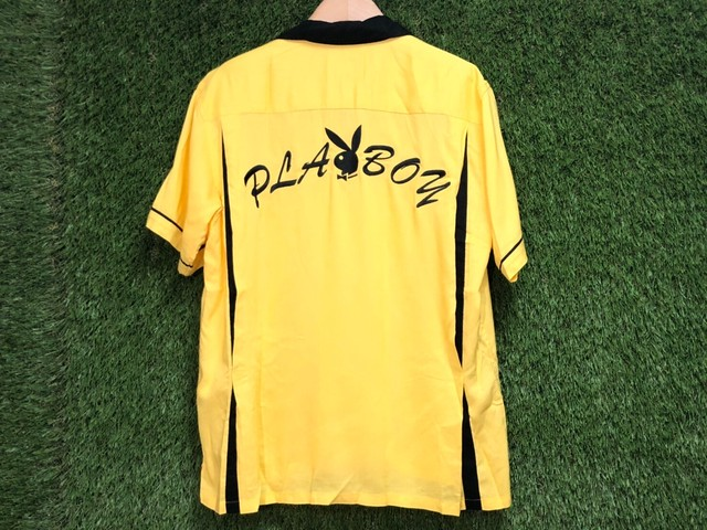 Supreme × PLAYBOY BOWLING SHIRT SMALL YELLOW 90IE5047
