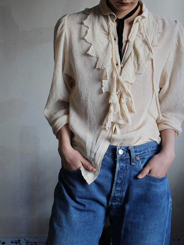 70s cotton blouse