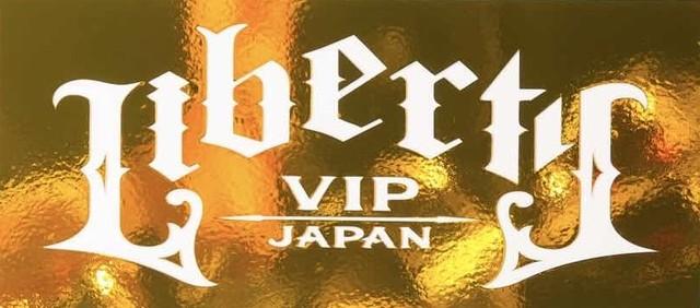 LIBERTY VIP JAPAN BOX ステッカー ゴールドミラー