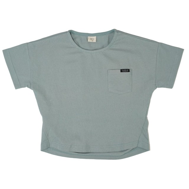 RIO 背中プリントタック入りワイドTシャツ