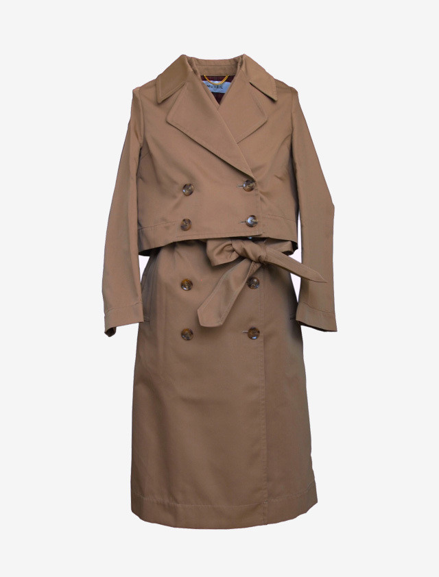 MUVEIL DESIGN 2PIECE TRENCH COAT
