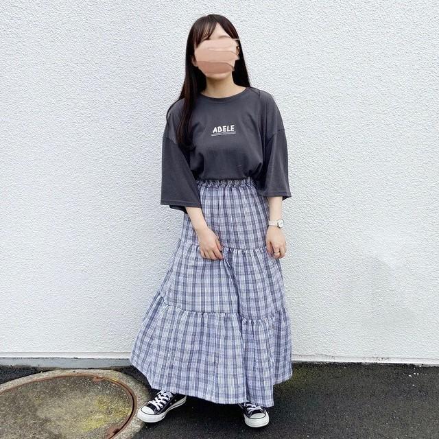 チェックロングスカート【515-2】