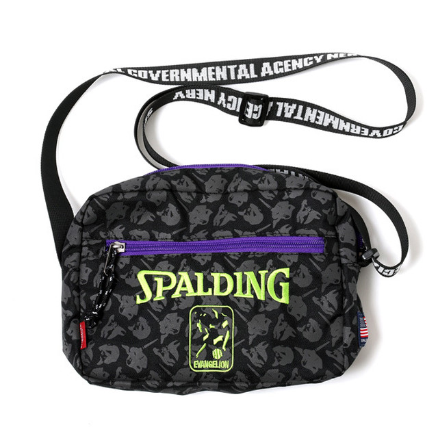 RADIO EVA 722 EVA-01 Shoulder Bag by SPALDING  Black x Green / EVANGELION エヴァンゲリオン