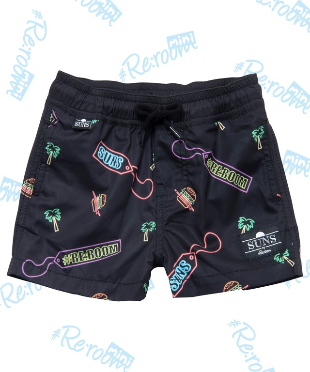 SUNS NEON PATTERN KIDS SWIM SHORTS[RSW027]