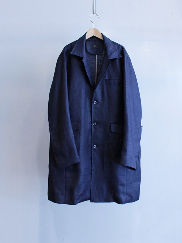 Garage.U.W Exclusive Reciprocity VINTAGE KERSEY ATELIER COAT NAVY