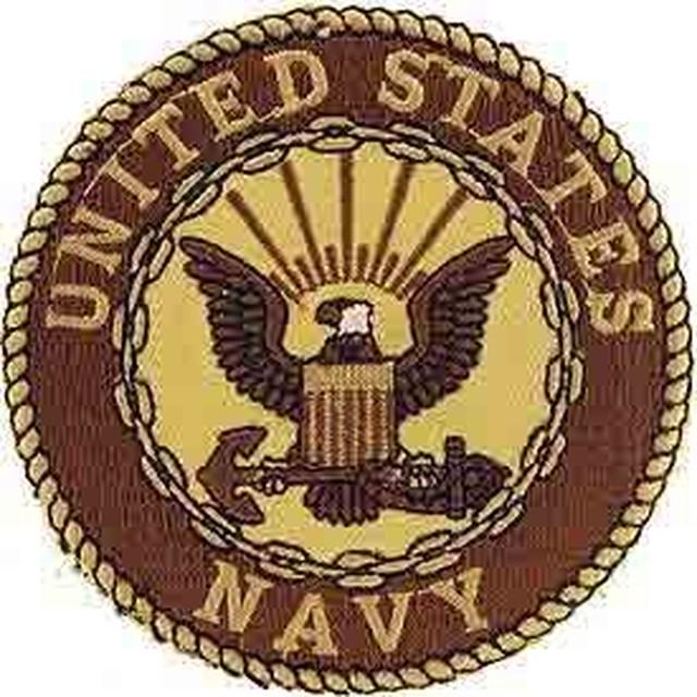 引続きセール主力商品20%OFF!  【ミリタリー】U.S.Navy  シンボル 合衆国海軍 デザート仕様【ワッペン】
