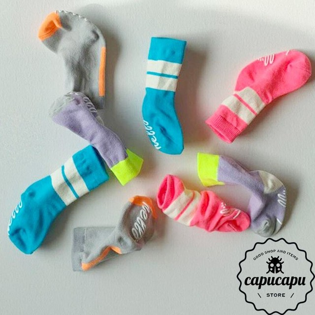 «予約» neon color combination socks 4set