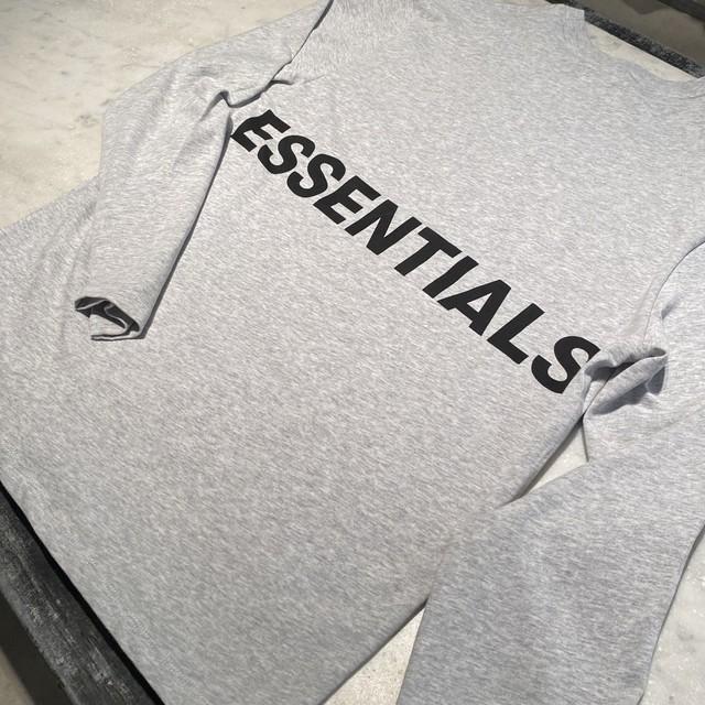 ESSENTIALS【エッセンシャルズ】Boxy Long Sleeve T-shirt (F,GREY).