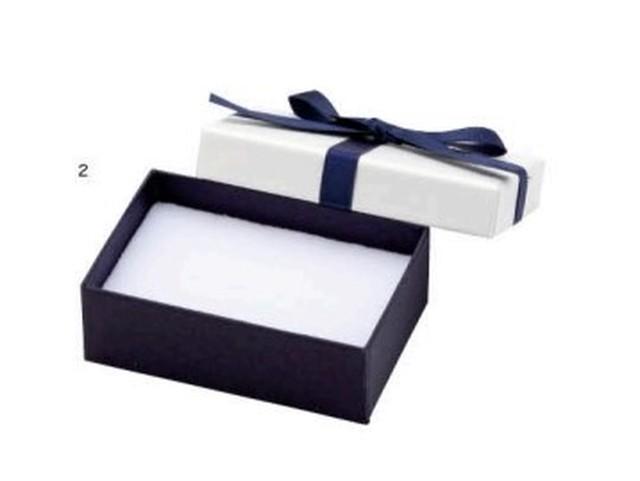 アクセサリー紙箱 リボン付きフェザーボックス 12個入り 7342-REP