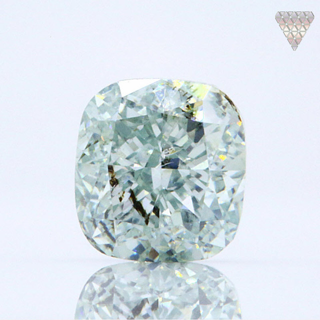 0.41 ct FANCY BLUE-GREEN I1 CUSHION GIA 天然  ダイヤモンド ルース