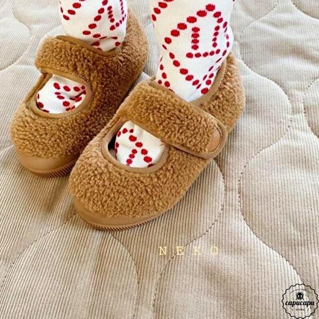 «sold out» mokomoko shoes 3colors モコモコ キッズシューズ