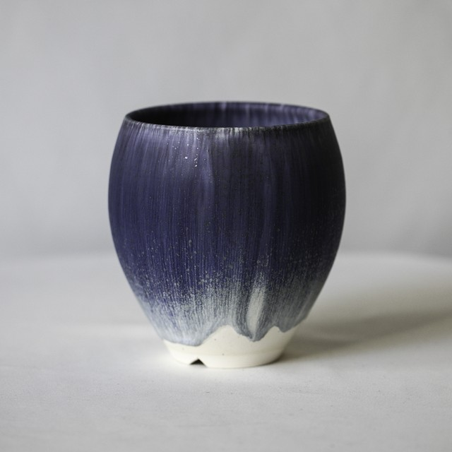 Basic cylinder pot(Blue Gray)※Large