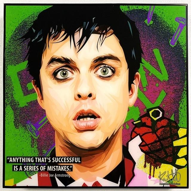 Billie Joe Armstrong / Green Day グリーンディ「ポップアートパネル Keetatat Sitthiket」アートフレーム アートボード グラフィックアート ウォールアート 絵画 壁立て 壁掛けインテリア 額 ポスター プレゼント ギフト インスタ映え 音楽 キータタットシティケット