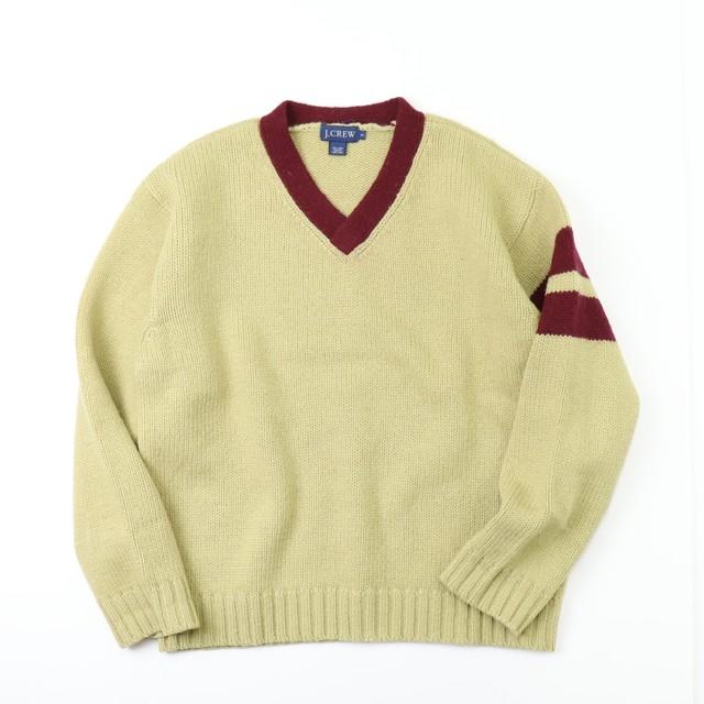 "90s  "" J.CREW ""  Wool  Sweater  S   90年代 ウールニット A683"
