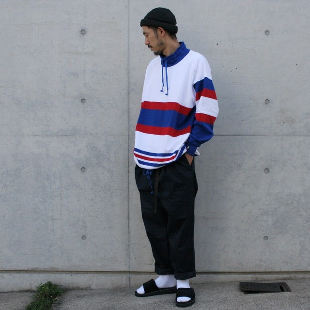 is-ness × Cotton TRADER / BIG RUGGER MOCK NECK SHIRT