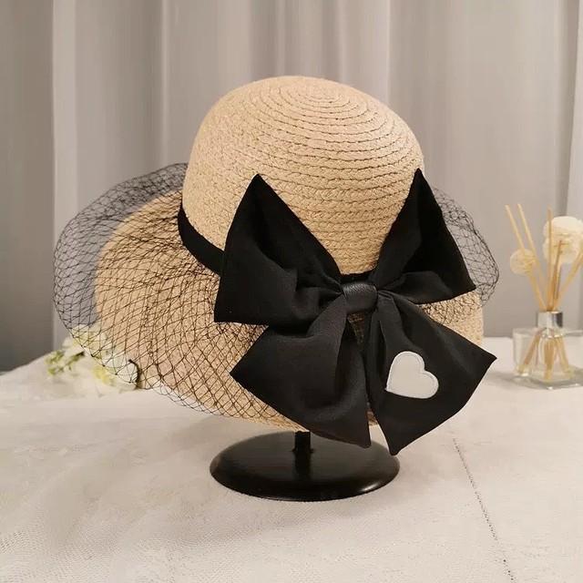 tulle ribbon hat