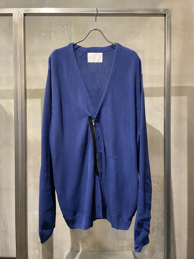 TrAnsference zip cardigan - blue(dull)