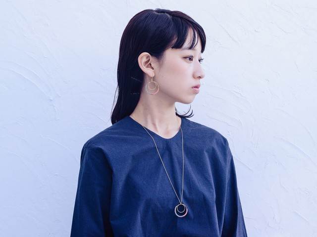 2WAY Wrapped Mettal Necklace/Black (Gold/Silver)[ロングネックレス,チョーカー]