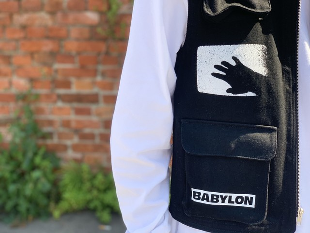 BABYLON LA CARGO VEST BLACK SMALL 60JD5889