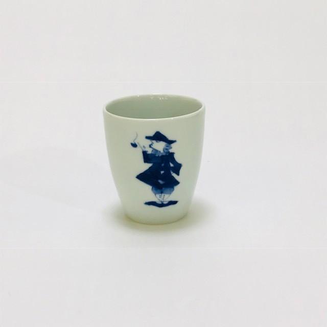 【青花】 パイプ異人フリーカップ