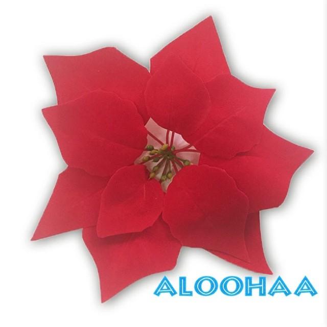 ポインセチア 22.5cm 造花 赤 フェイクフラワー