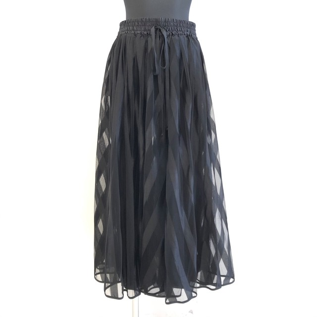 【 Thomas magpie 】- 199-2040 - thomas magpie long tulle skirt stripe