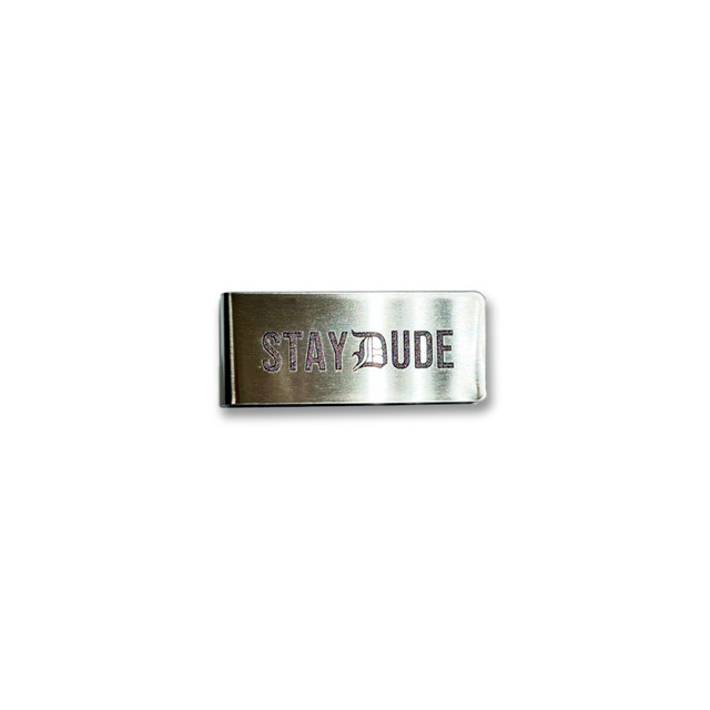 "【STAY DUDE COLLECTIVE】""D"" Logo Money Clip"
