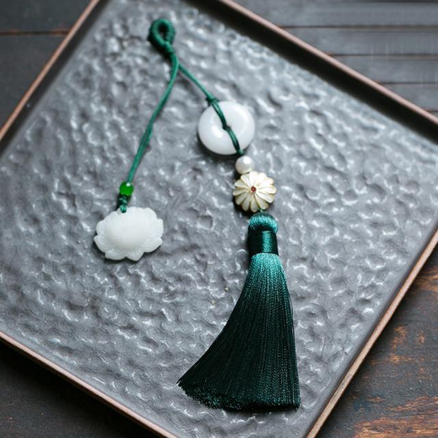 アクセサリー 唐装用飾り物 漢服用 チャイナ風 扇子用 バッグ用 グリーン ブルー ピンク