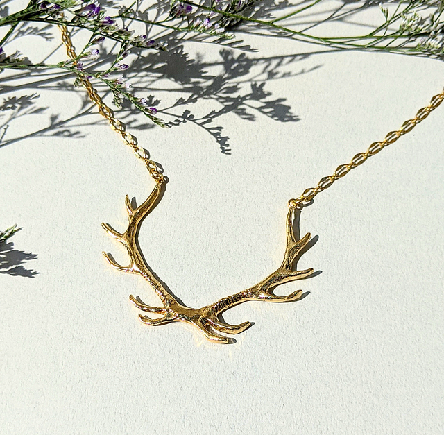 BAMBI X RUKUS 鹿の角ネックレス | Deer Horns Necklace