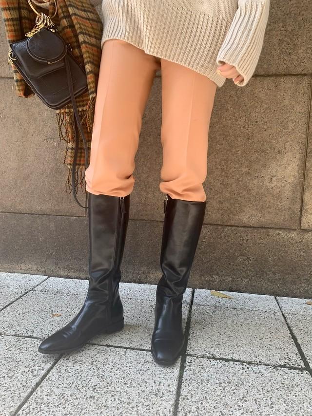 【予約】flat heel long boots / black 12/10 21:00~再販 (1月中旬発送予定)