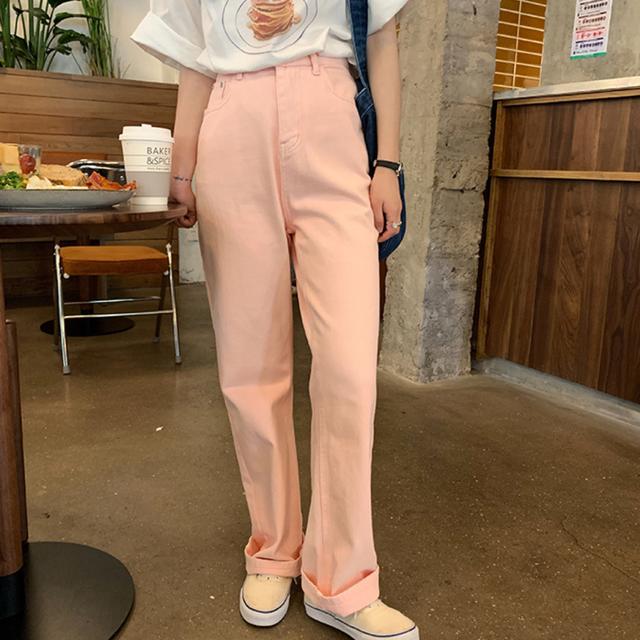 〈カフェシリーズ〉ピーチフィズのデニムパンツ