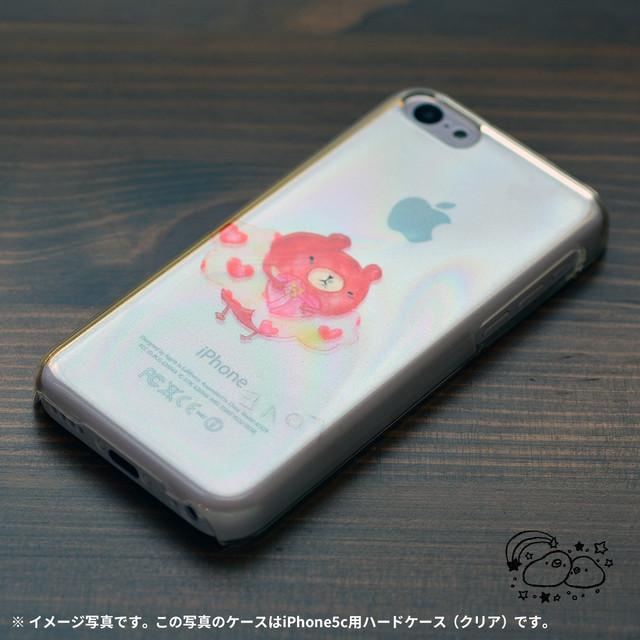 【BASE店限定】アイフォンse ケース クリア iPhoneSE クリアケース キラキラ かわいい くま クマ 書き置き/chitch