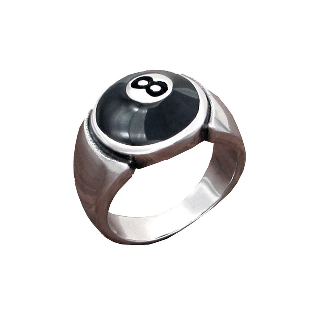 【Cat & Parfum】Eight Ball Silver Ring