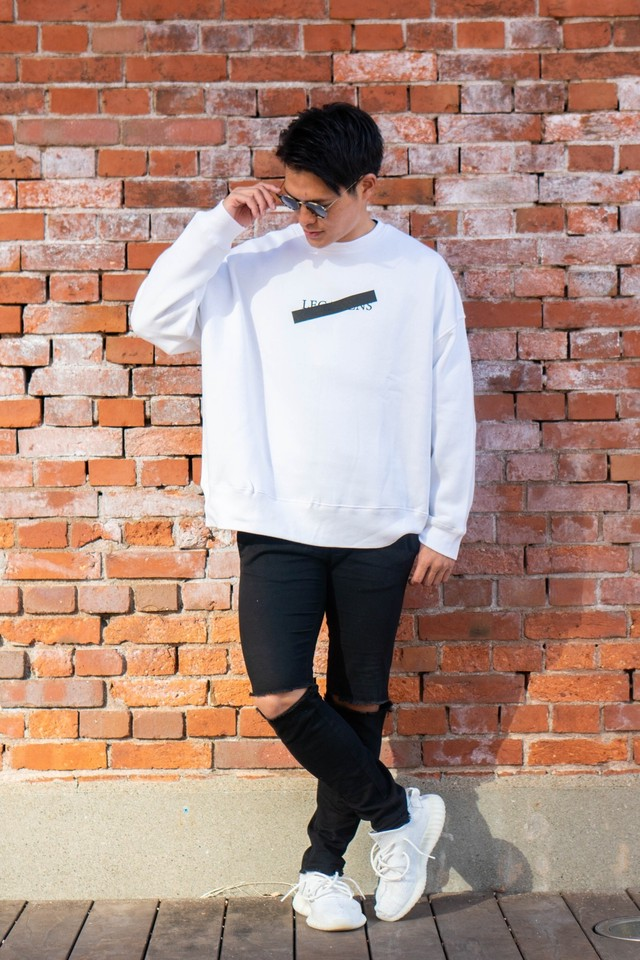 over size sweat / black