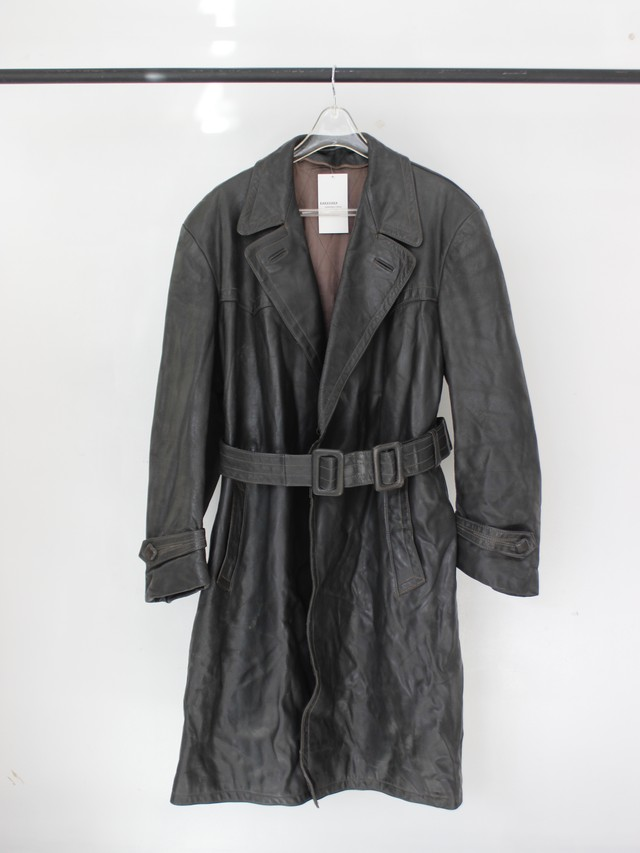 Vintage leather coat dark gray