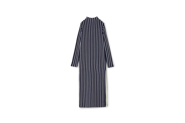 CABLE STRIPE ONE PIECE - [NAVY]