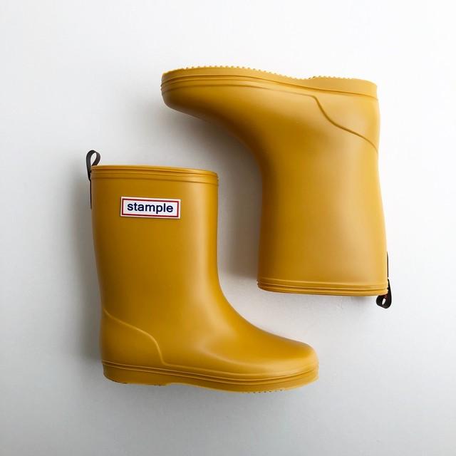 再入荷 ☆ stample Rain Boots  (MADE IN JAPAN) マスタード 16~19cm #75005 #37